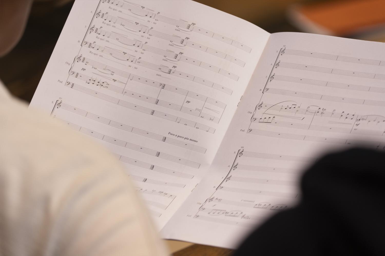 London Chamber Choir in Rehearsal