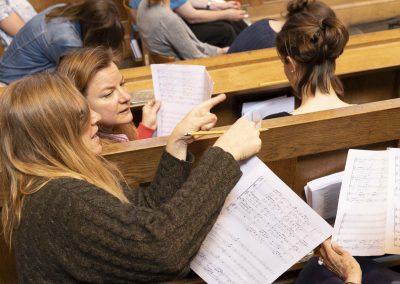 Canticum Chamber Choir recording a disc of music in Tonbridge School Chapel