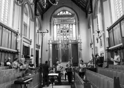 london Choir Canticum recording a disc of music in Tonbridge School Chapel